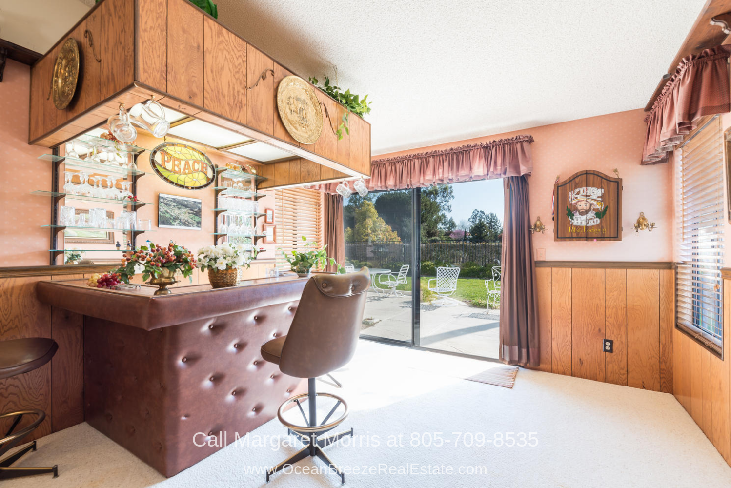 Crown Pointe Subdivision Nipomo CA Golf Homes for Sale - Invite your friends over and have amazing conversations in the den/ pub of this Nipomo CA golf course home for sale.
