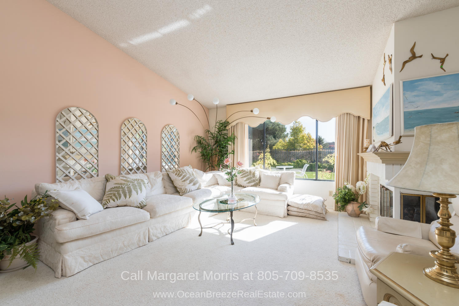 Nipomo CA  Real Estate Properties for Sale - Fall in love with the warm and inviting ambiance of the living room of this Nipomo golf course home for sale.