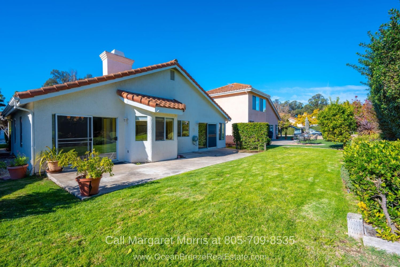 Golf Homes for Sale in Blacklake Nipomo CA - Discover the gorgeous view that awaits you on the patio of this Nipomo CA golf course home for sale.